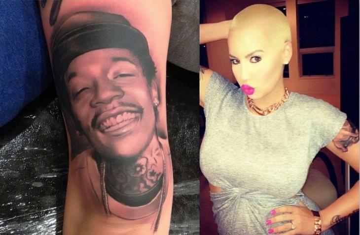 Amber-Rose-tattoo-of-Wiz-Khalifa