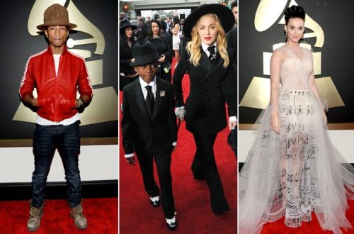 pharrell-madonna-katy-perry-grammys-2014-red-carpet-650-430