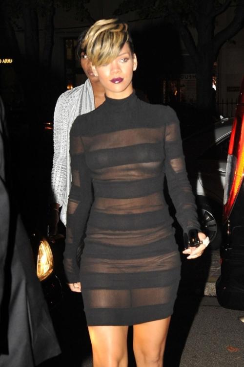 Rihanna Out at Paris Fashion Week